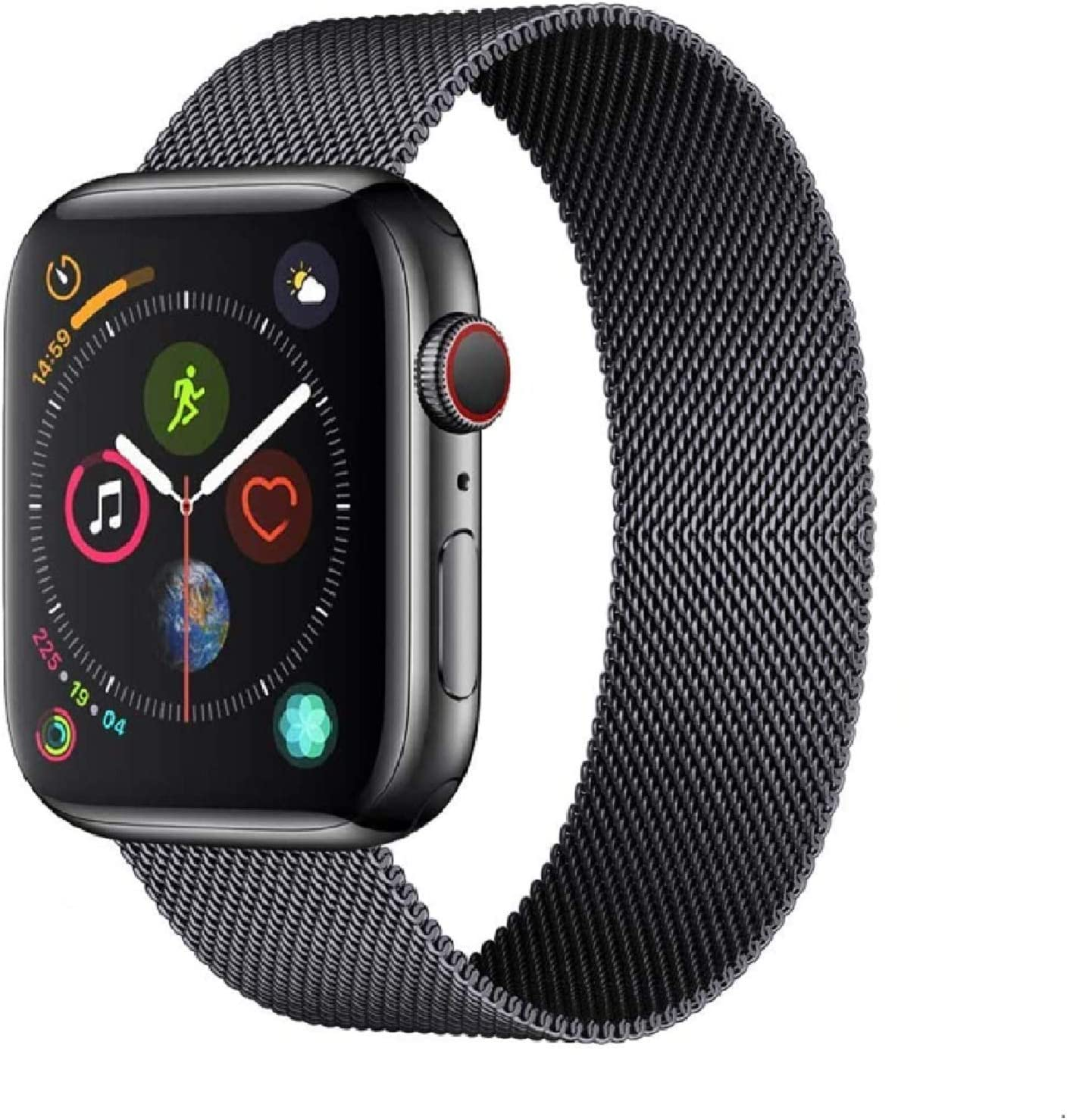 MFF Compatible for Apple Watch Band 38mm 42mm 40mm 44mm, Wristband Strap Replacement Band Compatible with iWatch Series 6 5 4 3 2 1 SE