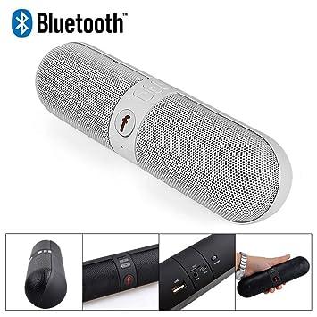 nanfeng F808 inalámbrico portátil Bluetooth Altavoces subwoofer Radio Tarjeta ordenador teléfono Universal Bluetooth Audio. (blanco): Amazon.es: Electrónica