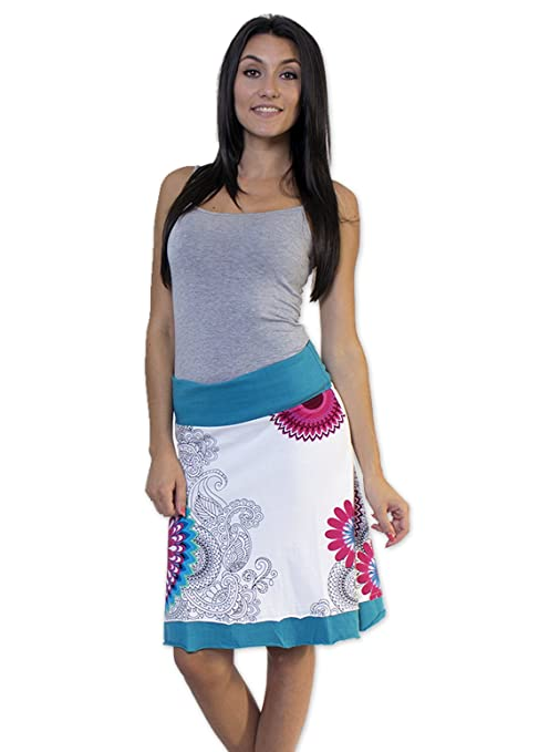 Algodón del mundo - Falda Candy Color blanco multicolor 48 ...