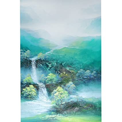 100 Hand Painted Mountains And Waters Landscape Oil Painting On Canvas By Yqm Art Original Wall Abstract Art For Bedroom Home Decoration 24x36