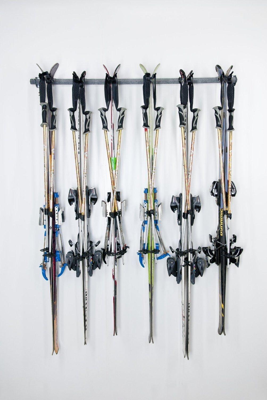 Generic YanHong-US3-151027-151 8yh2516yh er Space Save Hanger Hook 120lb 6Pair Sport Ski Storage Sport Ski Steel 120lb 6Pair der Hange Rack Holder orage Rac Organizer Space Save by Generic