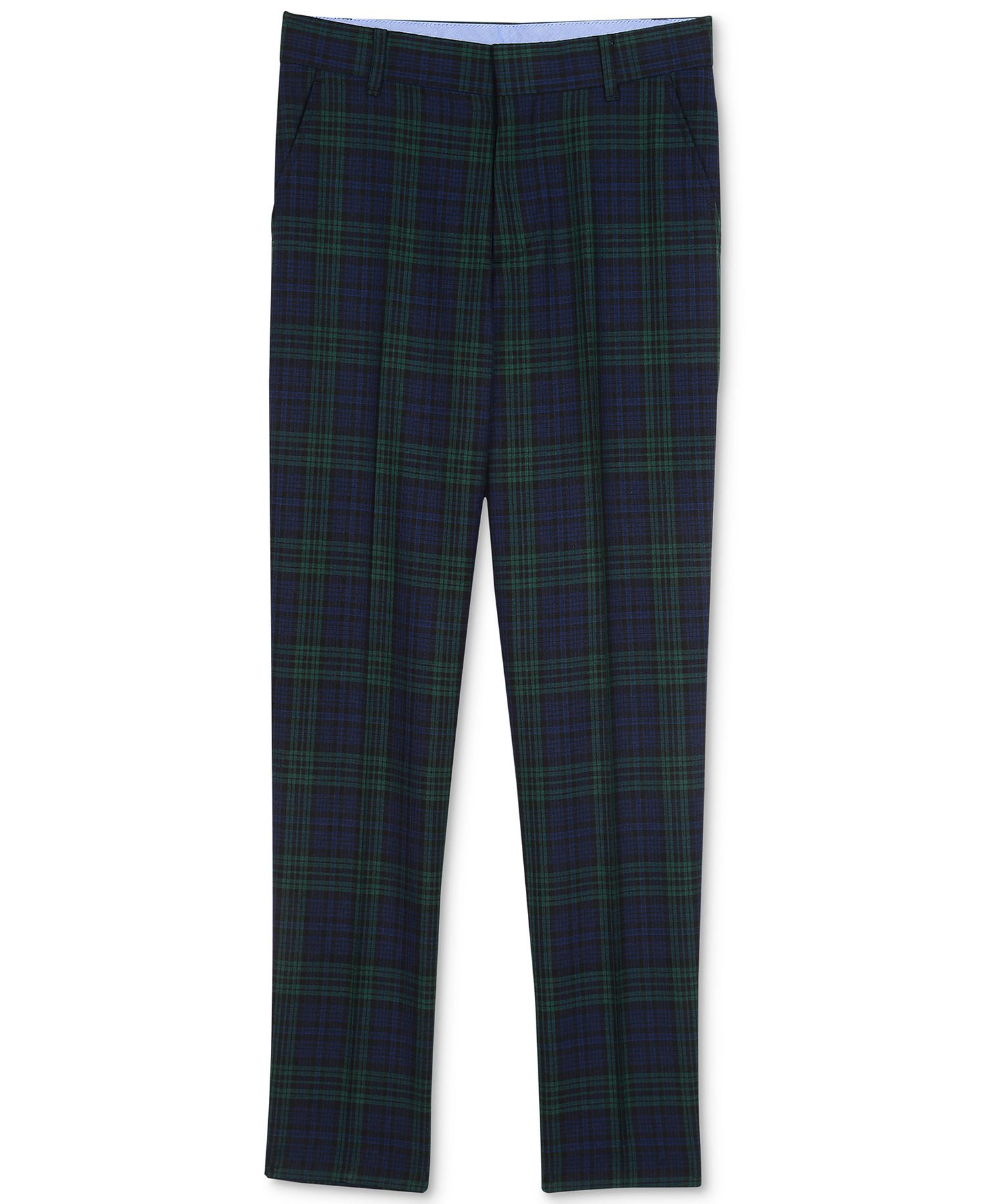 Tommy Hilfiger Big Boys' Flat Front Dress Pant, Dark Green, 12
