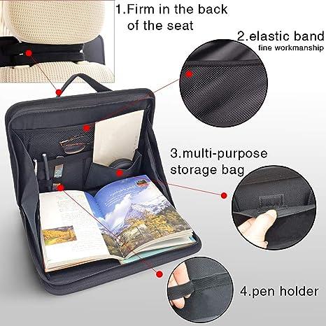 Auvstar Laptop Tasche Ständer Für Kfz Auto Auto Fahrzeug Rücksitz Laptop Tablet Notebook Speisen Arbeit Halterung Ständer Schreibtisch Halter Tablett Tisch Holder Organizer Auto