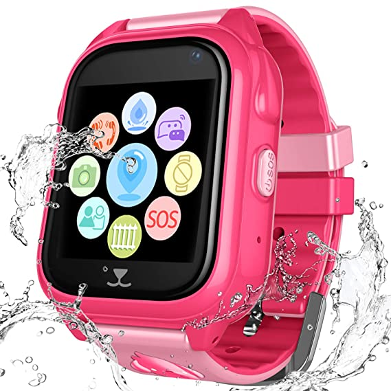 Kids Waterproof Smartwatch with GPS Tracker - Boys & Girls IP67 Waterproof Smart Watch Phone with