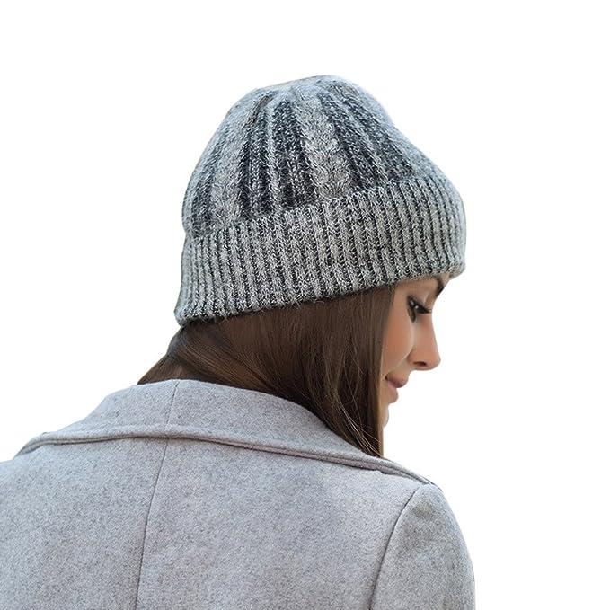 Damen MüTze Winter, TUDUZ Warme Strickwolle Beanie Mütze mit Flecht ...
