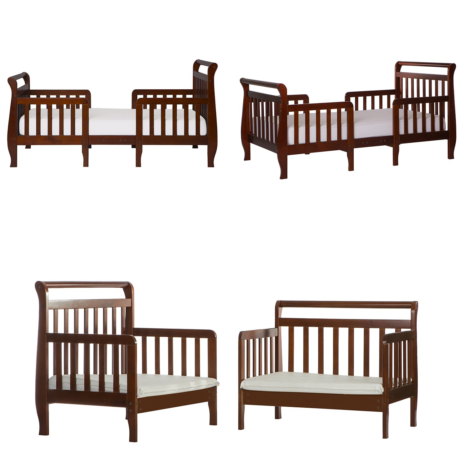 White Dream On Me Emma 3 in 1 Convertible Toddler Bed