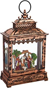 Cypress Home Beautiful Christmas Nativity Scene Spinning Musical LED Lantern Table Top Décor - 7 x 4 x 11 Inches Indoor/Outdoor Decoration for Homes, Yards and Gardens