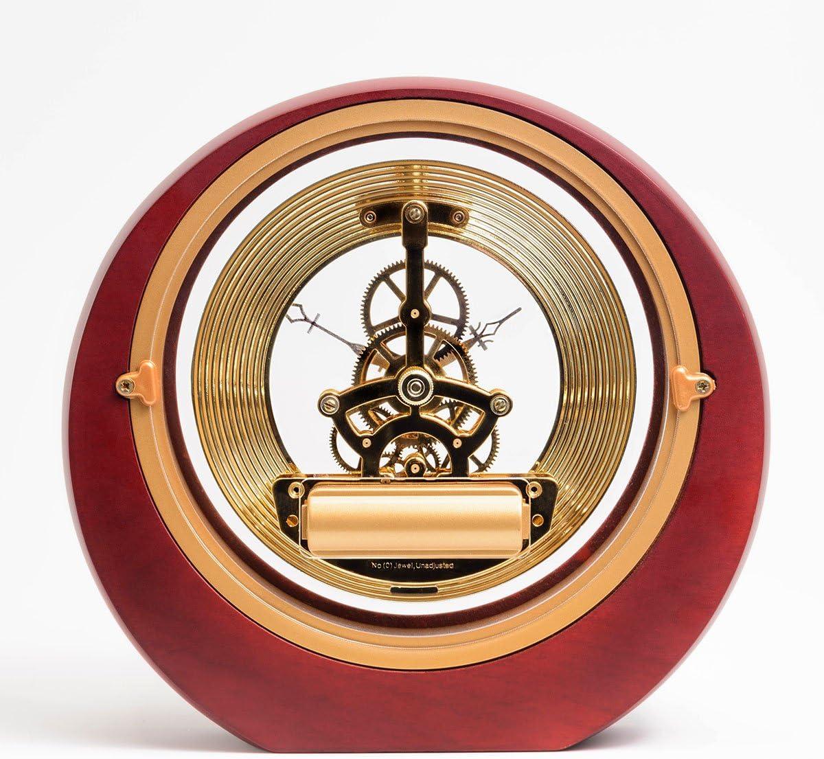 Dacasso Eclipse Burgundy Desk Clock, 8 x 7.25 x 2.50