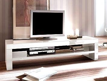Expendio Lowboard Giza 160x40x45 Cm Weiss Hochglanz Tv Board Tv Mobel