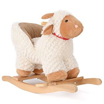 Terrific Lamb Rocking Horse Plush Animal Rocker With Seat Inzonedesignstudio Interior Chair Design Inzonedesignstudiocom