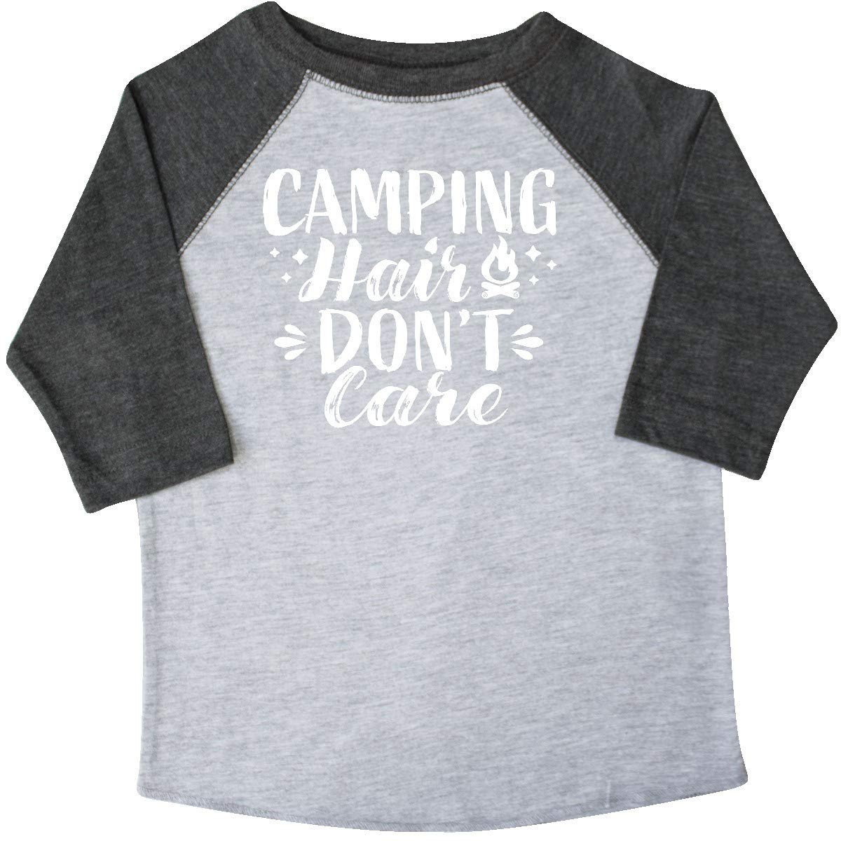 inktastic Camping Hair Dont Care with Campfire Toddler T-Shirt