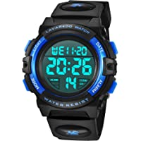Reloj Niño,Reloj Digital para Niños, Deportivos LED 5ATM Impermeable Alarma Calendario Multifunción Cronógrafo Reloj De…