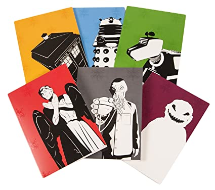 Doctor Who Christmas Cards.Pack Of 6 Doctor Who Christmas Cards From Bbc Worldwide Amazon Co