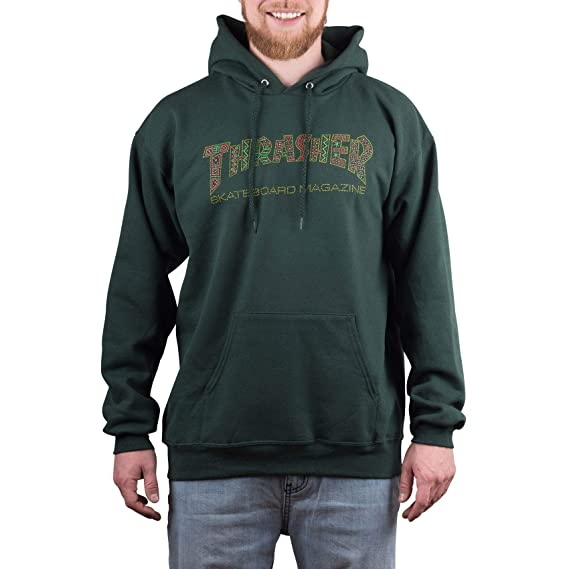 bea97df5d27 Thrasher Forest Green Davis Hoody: Amazon.co.uk: Clothing