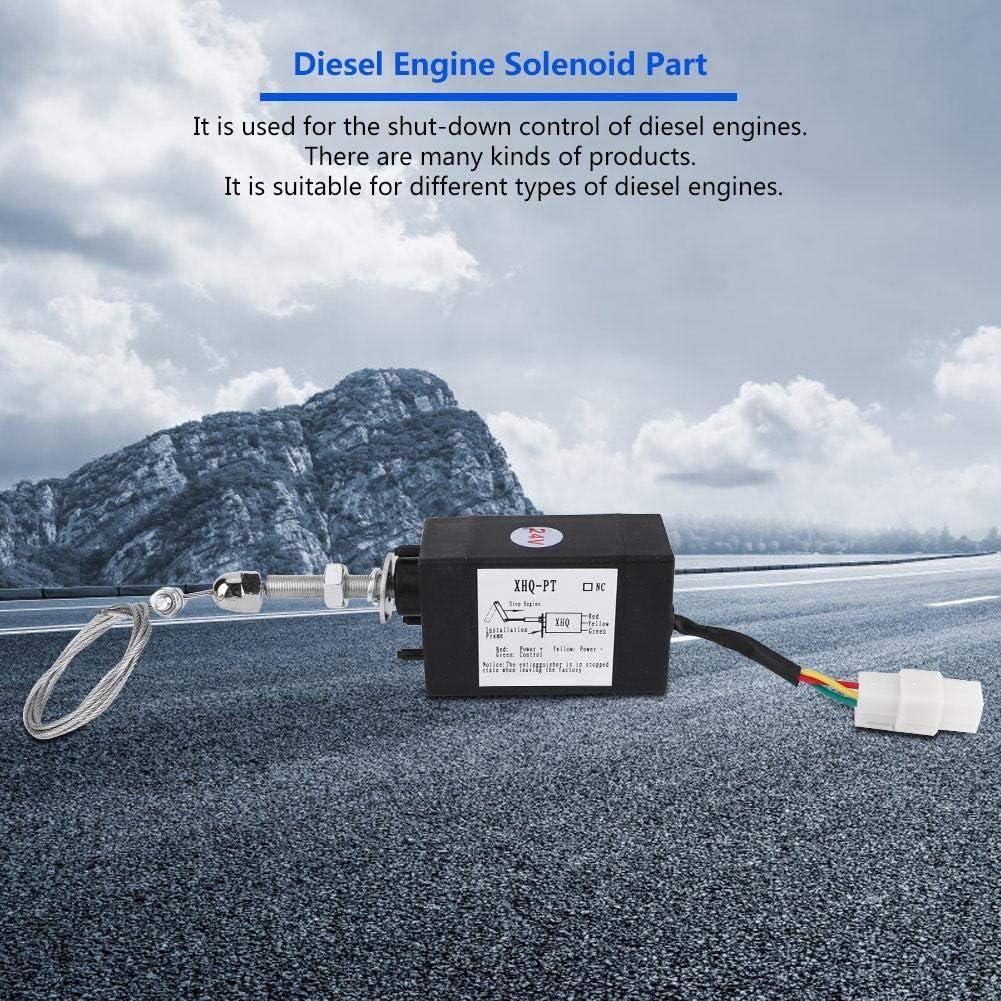 24V Diseliminare il dispositivo di spegnimento del motore Elettrovalvola di arresto del motore DC 12 Disellegare lelettrovalvola del motore 24V