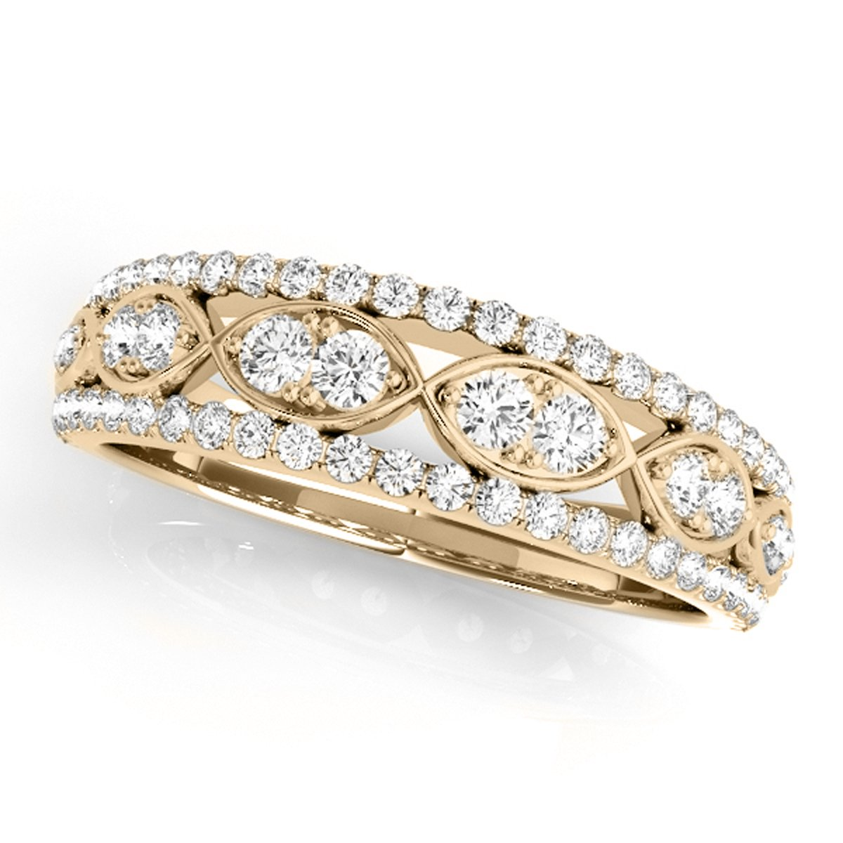 0.50 Ctw. Diamond Delicate Wedding Band In 14K Yellow Gold
