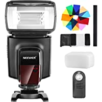 Neewer TT560 Flash Speedlite with 12 Color Filters and IR Wireless Remote Control Kit for Canon Nikon Panasonic Olympus and Other DSLR Cameras, Hard Diffuser and Microfiber Cleaning Cloth Included