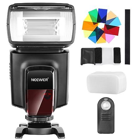 Neewer TT560 Flash Speedlite mit 12 Farbfiltern und IR Drahtlose Fernbedienung Kit für Canon Nikon Panasonic Olympus und ande