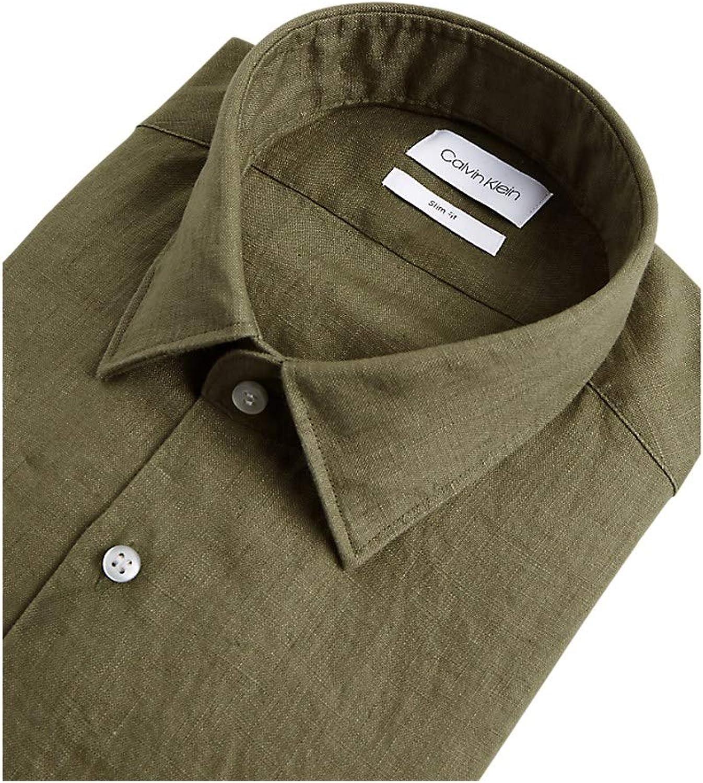 Calvin Klein K10K105388 RAA - Camisa para hombre, verde ...