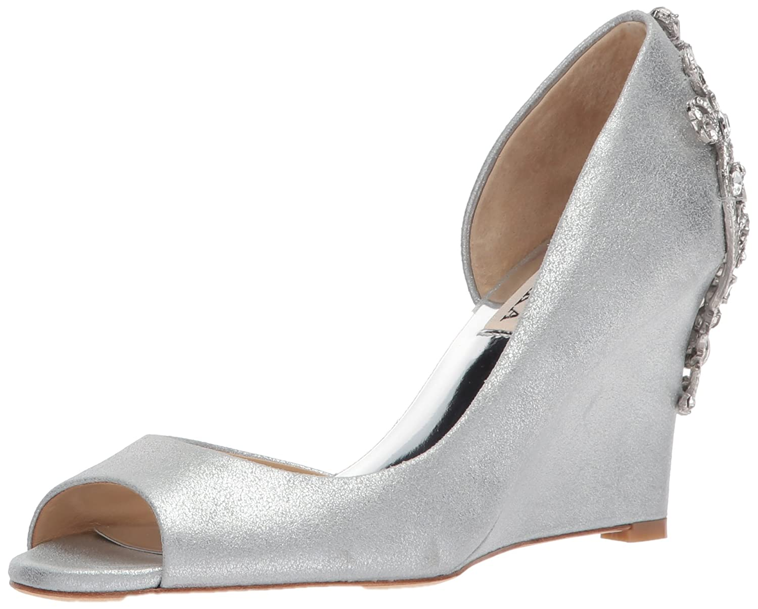 Badgley Mischka Women's Meagan II Pump B07351LTQH 8.5 B(M) US|Silver