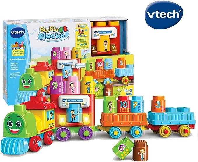 VTech Bla Bla Blocks Mon ptit Train interactif - Juegos educativos (Multicolor, Niño/niña, 1,5 año(s), 5 año(s), Francés, AAA): Amazon.es: Juguetes y juegos