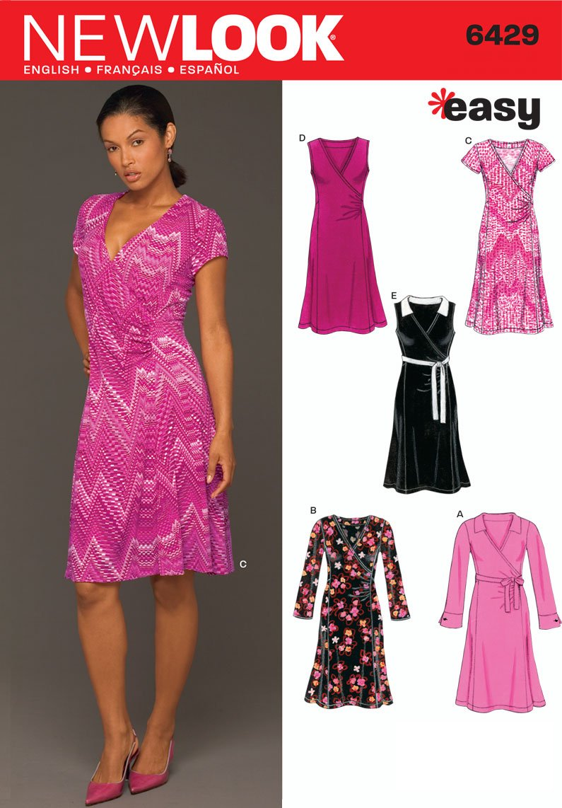 New look sewing pattern 6429 misses dresses size a 8 10 12 14 new look sewing pattern 6429 misses dresses size a 8 10 12 14 16 18 amazon home kitchen jeuxipadfo Image collections