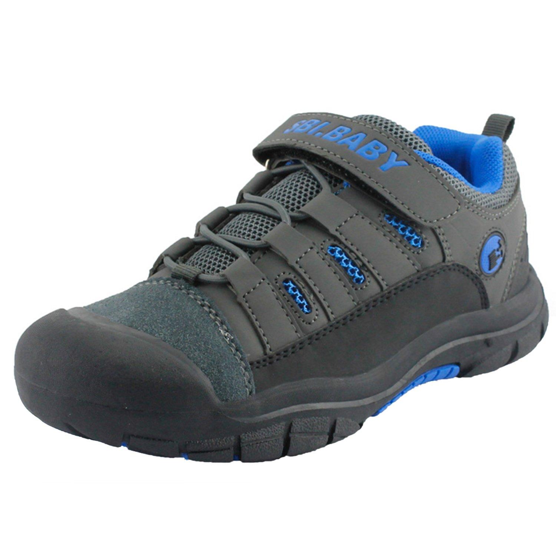 Walisen Zapatillas de Senderismo Unisex Niñ os Camper Trekking Sneaker Low Rise Transpirable Escarpines