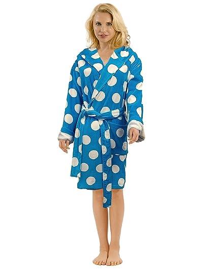 e09ce55a83 Terry Cotton Hooded Bathrobe for Women