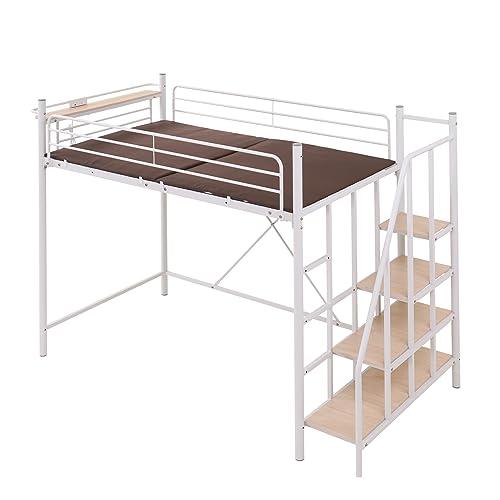 60着収納できるダブルハンガー付でベッド下スペースがウォークインクローゼットのように使えるロフトベッド。夏用と冬用の衣類を前後に分ければ、衣替えも入れ替えるだけと簡単に済みます。  オシャレなヴィンテージデザインは、ベッド部分が見えないパネル状になっていて、収納スペースもカーテンで隠せるので生活感が出ません。狭いお部屋も一気にオシャレ空間に早変わりします!