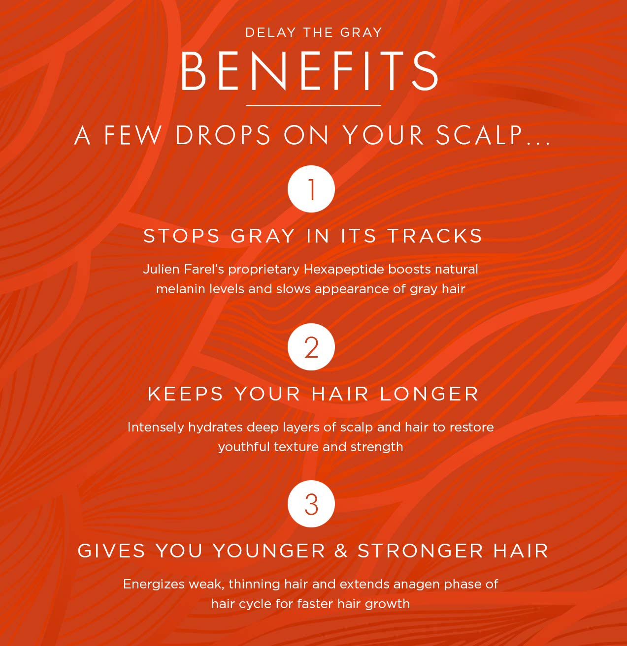 Julien Farel Magnifique Delay The Grey Hair & Scalp Serum, 1.7 Fl Oz – SLS & Paraben Free – Best for Normal, Fine, Thinning, Damaged and All Hair Types, As Seen on The View by Julien Farel Products (Image #8)