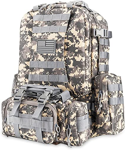 50L Molle Tactical 3 Day Assault Military Rucksack// Army Backpack //Camping bag
