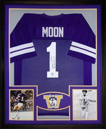 online retailer 2db40 81965 Warren Moon Washington Huskies Autograph Signed Custom ...