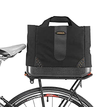 90eb7e78d72 Ibera Conjunto PakRak de alforja térmica Aislante con Montura para Bicicleta:  Bolsa para Compras y Bolso de Mano 2 en 1: Amazon.es: Deportes y aire libre