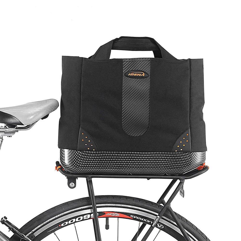 Ibera 2 in 1 Bike PakRak Insulated Cooler Trunk Bag, Bicycle Shopping Bag for Grocery, Hand/Shoulder Bag