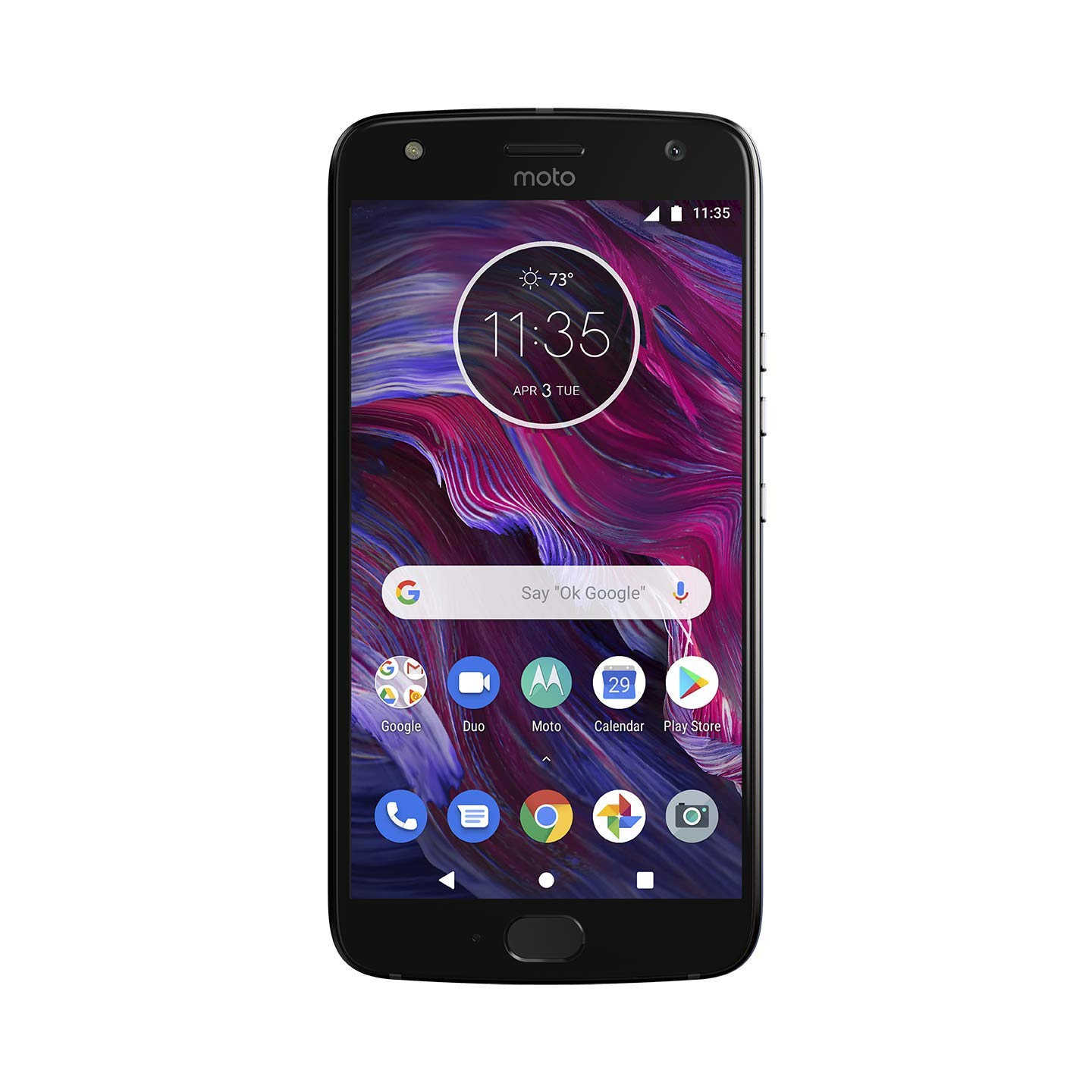 Moto X (4th Generation) - with  Alexa hands-free – 32 GB - Unlocked – Sterling Blue - Prime Exclusive
