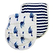 Little Luvies Luxury Baby Burp Cloth/Bib Set (Mamabear bear)