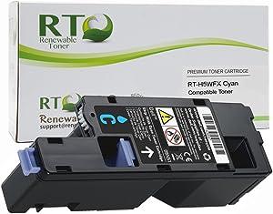 Renewable Toner Compatible Toner Cartridge Replacement Dell H5WFX 593-BBJU for Dell E525 Printers (Cyan)