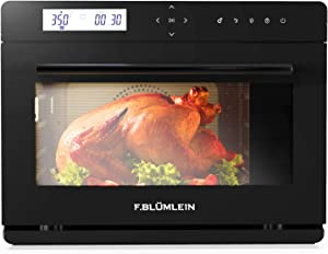 F.BLUMLEIN Steam Convection Oven Countertop 34 Qt - 10 Modes with 24 Item Preset Menu and 10 DIY Recipe Slots - Extra Large Size for Entire Family