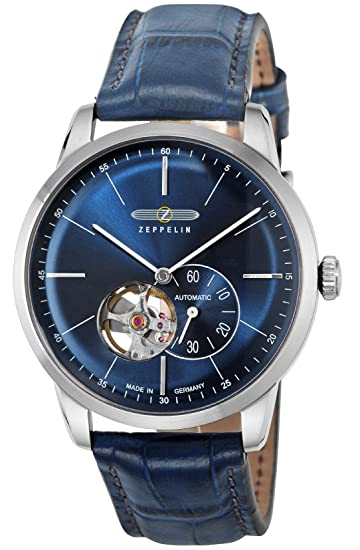 Zeppelin Self - bobinado reloj para hombres 7364 - 3 azul marino: Amazon.es: Relojes