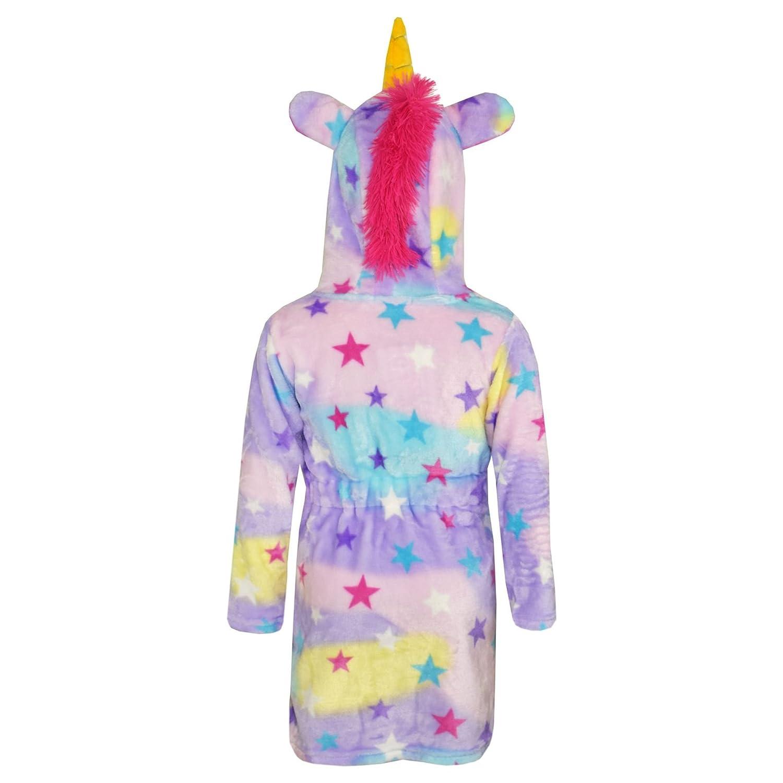 A2Z 4 Kids/® Girls Boys Bathrobe 3D Animal Unicorn Star Dressing Gown Fleece Night Loungewear