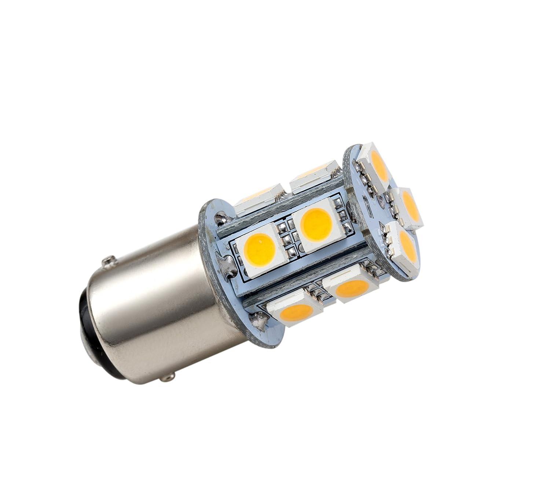 GRV Ba15d 1142 1076 1176 High Bright Car LED Bulb 13-5050SMD AC//DC 12V~24V Cool White Pack of 6