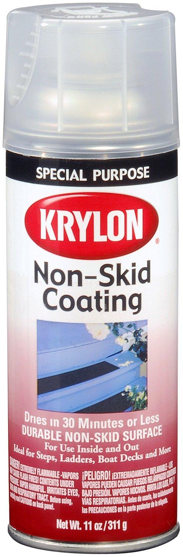 Krylon 3400 clear non skid coating 11 oz aerosol ebay for Boat non slip deck paint