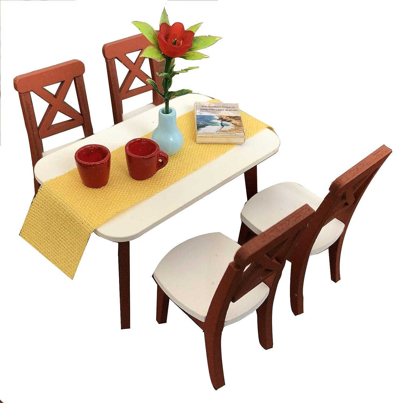Rojo De Casa De Muñecas Muebles de escala 1:16 de metal bistro silla