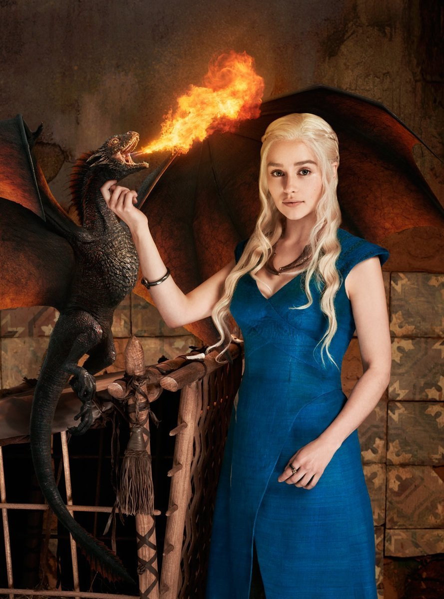 Daenerys Targaryen Khaleesi Dothraki Mother of Dragons Dany Daenerys Stormborn Breaker of Chains Fancy Dress Costume Game of Thrones Blue Ladies Dragon ...