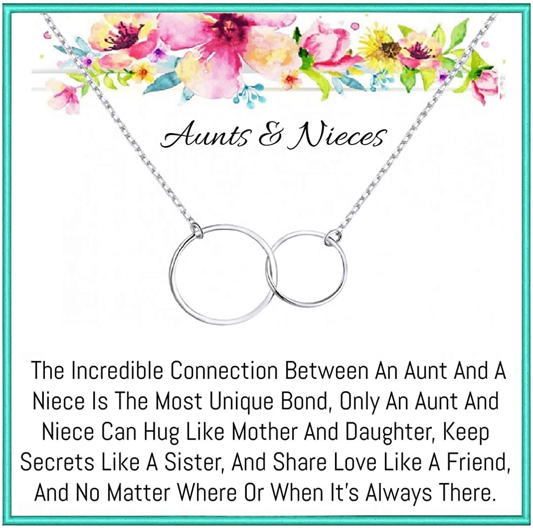 Onepurposegifts Aunt and Nieces necklace for birthday, Christmas, holidays, Jewelry