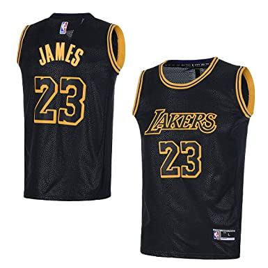 best website da772 a492c OuterStuff Youth Los Angeles Lakers #23 LeBron James Kids Basketball Jersey