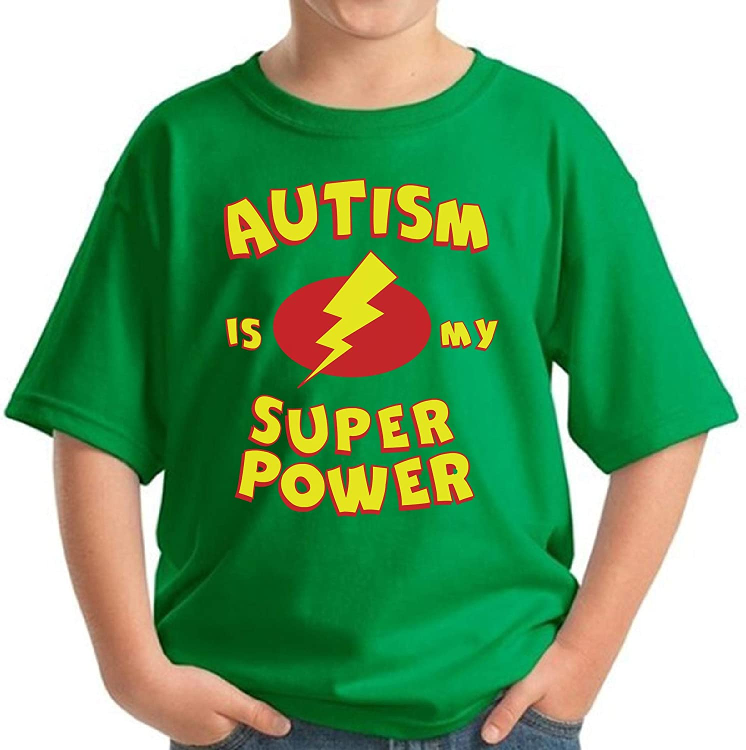 Pekatees Autism Youth Shirt Autism is My Super Power Kids Autism Awareness Shirt