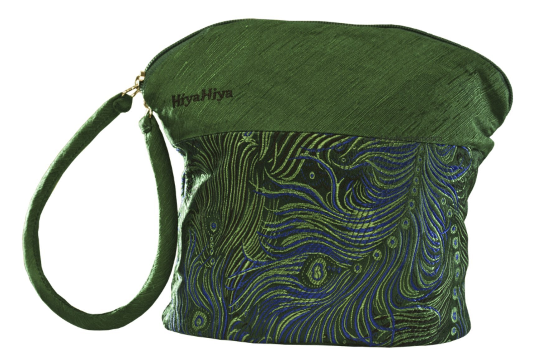 HiyaHiya Small Project Bag for Knit and Crochet - Green Feather