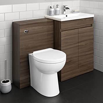 Super 1100 Mm Modern Walnut Bathroom Drawer Vanity Unit Basin Sink Toilet Furniture Set Home Interior And Landscaping Transignezvosmurscom