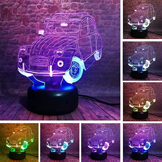 Creative Dual Color SUVs Car 7 Colorful Gradient Lámpara LED ...